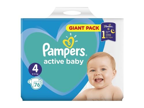 Pampers pieluchy Active Baby Maxi 4 76 szt