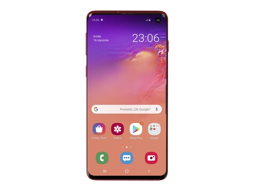 Smartfon Samsung Galaxy S10 128GB Prism Red Bluetooth WiFi NFC GPS LTE Galileo 128GB Android 9.0 kolor czerwony