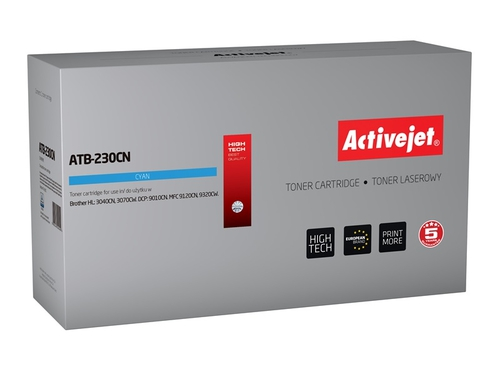 Toner Activejet ATB-230CN do drukarki Brother, Zamiennik Brother TN-230C; Supreme; 1400 stron; błękitny.