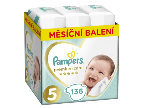 Pampers Pieluchy Premium Monthly Box S5 136