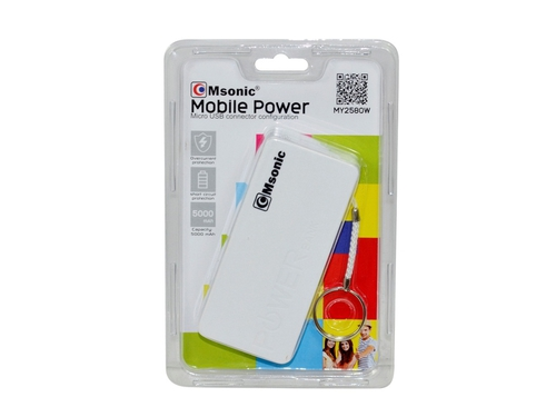 Power Bank VAKOSS MY2580W 5000 mAh microUSB USB 2.0