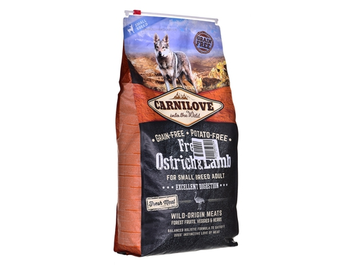 CARNILOVE OSTRICH & LAMB FOR SMALL BREED ADULT 6KG