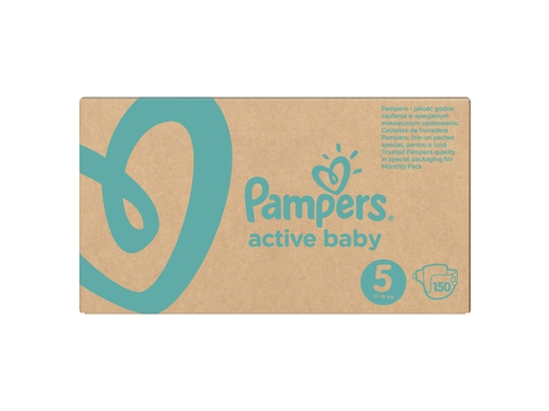 Pampers Pieluchy Active-Baby Monthly Box 150