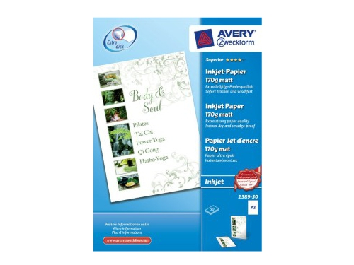 AVERY ZWECKFORM PAPIER DO DRUKARKI 170G 2589-50