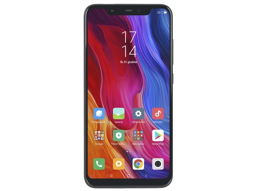 Smartfon XIAOMI Mi 8 64GB LTE NFC WiFi GPS Bluetooth 64GB Android 8.0 kolor czarny