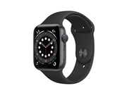 Apple Watch Series 6 GPS, 40mm Space Gray Aluminium Case with Black Sport Band - Regular - MG133WB/A