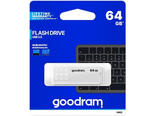 GOODRAM FLASHDRIVE 64GB UME2 USB 2.0 WHITE - UME2-0640W0R11