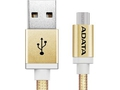 ADATA kabel USB type-A , charge and sync data on Android, złoty - AMUCAL-100CMK-CGD