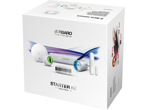 FIBARO Starter Kit (Home Center Lite, Flood Sensor, Smoke Sensor, Motion Sensor, Door/ Window Sensor, Wall Plug ) - Starter KIT PL