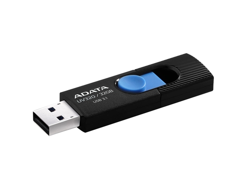 ADATA FLASHDRIVE UV320, 32GB,USB 3.0,black/blue - AUV320-32G-RBKBL