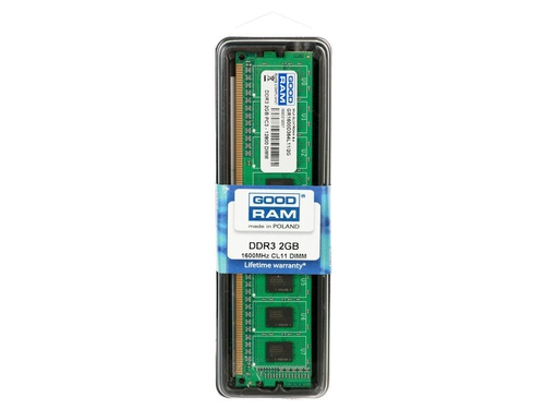 Pamięć RAM Goodram DDR3 2048MB PC1600 CL11 - GR1600D364L11/2G