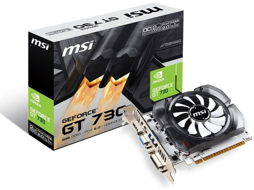 Karta graficzna MSI GeForce GT730 GeForce GT730 OC N730K-2GD3/OCV1 2GB GDDR3 1600 MHz 64-bit