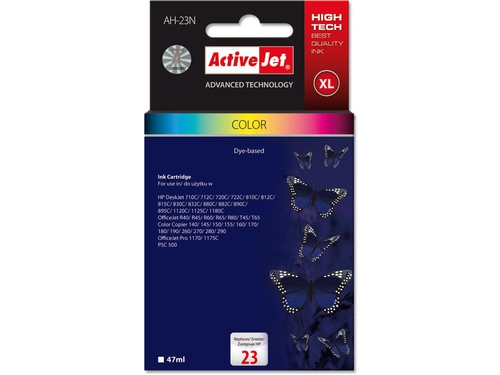 Activejet tusz HP 1823 Col 100% NEW no23 - AH-23N (AH-823N)