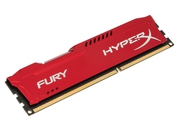 Pamięć RAM Kingston HyperX FURY DDR3 4GB 1600 MHz CL10 czerwony - HX316C10FR/4