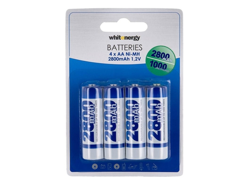 WHITENERGY AKUMULATOR 4xAA 2800 MAH Ni-MH - 08401