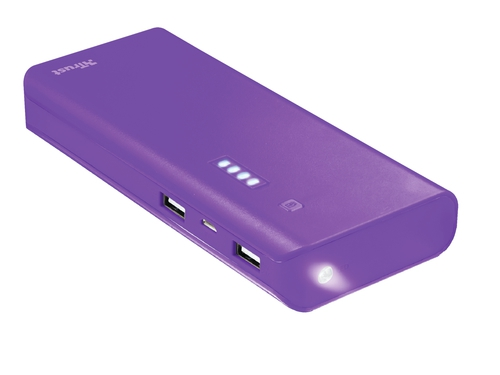 Powerbank Trust Primo 10000mAh Purple - 22750