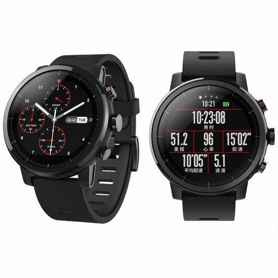 #Xiaomi Huami AMAZFIT Pace2 Stratos Smart Watch blac..