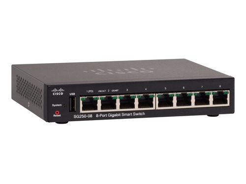 Switch Cisco SG250-08-K9-EU