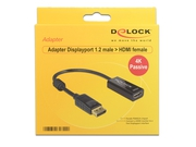 Adapter Delock DISPLAYPORT(M) - HDMI(F) 4K PASYWNY - 62609