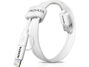 ADATA Kabel Sync and Charge Lightning, USB & microUSB, MFi (iPhone, iPad, iPod) - AMFI2IN1-100CM-CWH