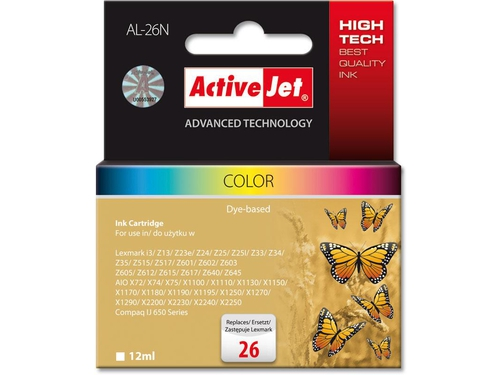 Activejet tusz Lex. 10N0026 New 100% Col