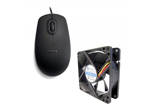 Dell MS111 Wired Optical Mouse + Wentylator CHIEFTEC AF-1225S - C0451735