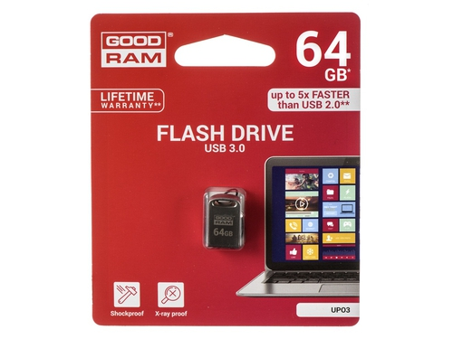 Pendrive Goodram Point 64GB USB 3.0 srebrny - UPO3-0640S0R11