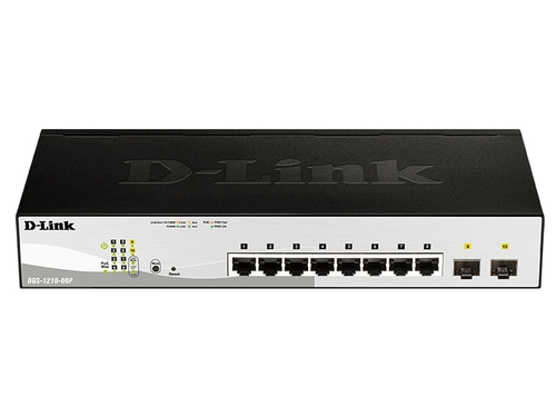 D-LINK DGS-1210-08P 8 port 10/100/1000 PoE Switch