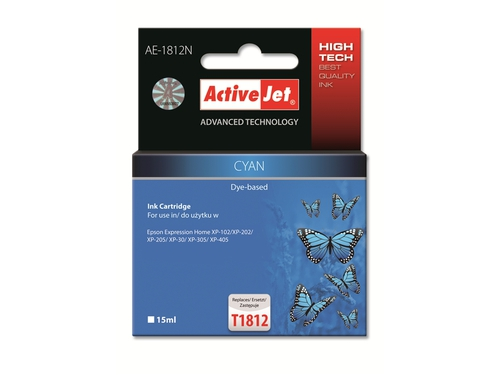 Activejet tusz Eps T1812 Cyan new AE-1812N