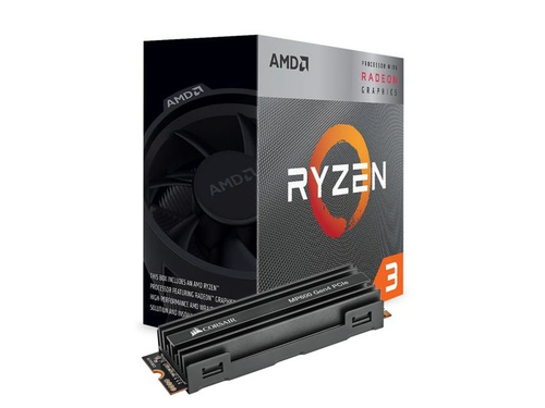 Procesor AMD Ryzen 3 3200G + DYSK SSD Corsair MP600 M.2 1TB NVMe PCI Express 4.0 - YD3200C5FHBOX