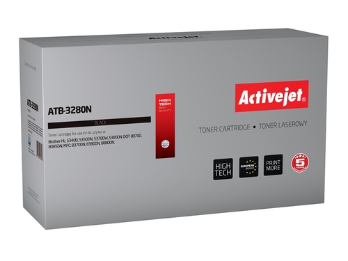 Toner Activejet ATB-3280N do drukarki Brother, Zamiennik Brother TN-3280; Supreme; 8000 stron; czarny.