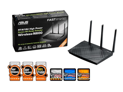 Router ASUS RT-N18U High Power,2,4Ghz 600Mbps,2XUSB,