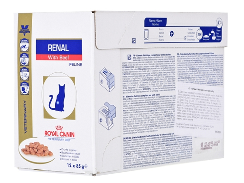 Royal Canin VD Cat Renal Beef 12 szt. x 85g