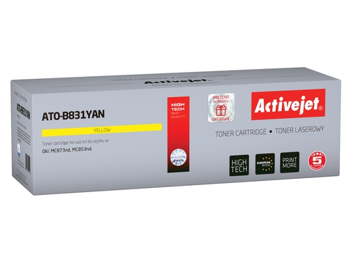 Activejet toner do OKI 44844509 reg ATO-B831YAN Refurbished / Odnowiony