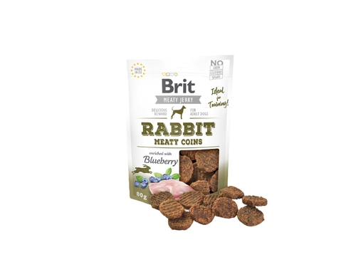 BRIT JERKY Rabbit Meaty Coins 80g