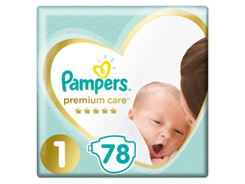 Pampers pieluchy PC Value Pack NB S1 78szt