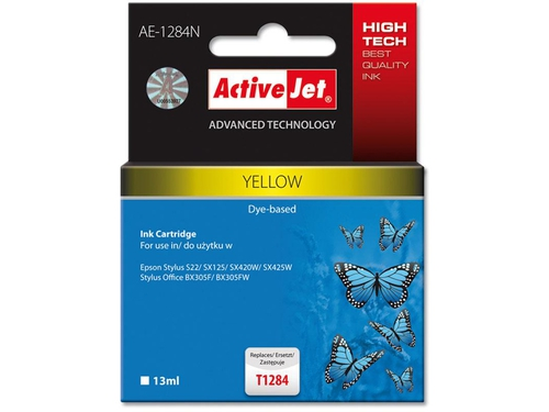 Activejet tusz Eps T1284 Yellow S22/SX125/SX425 AE-1284