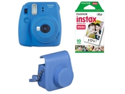 FujiFilm Instax Mini 9 Blue + Case + film 10 + papier 10x2