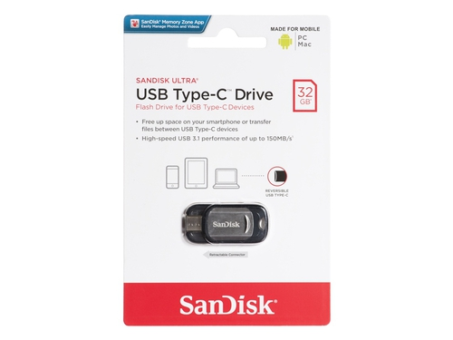 Pendrive SanDisk Ultra 32GB USB-C SDCZ450-032G-G46
