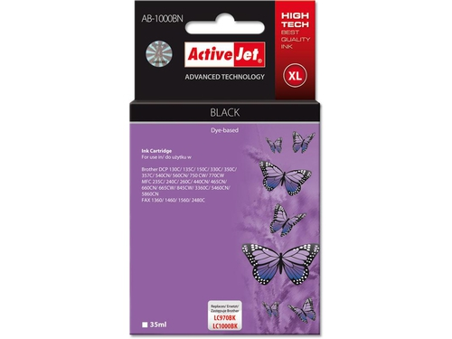 Activejet tusz Brother LC1000 Black AB-1000BK - AB-1000BN