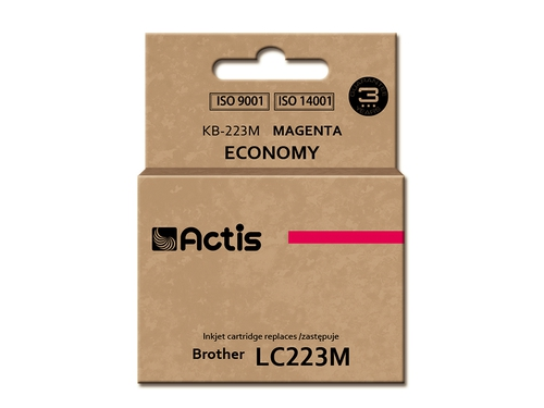 Tusz Actis KB-223M do drukarki Brother, Zamiennik Brother LC223M; Standard; 10 ml; purpurowy.