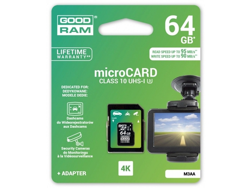 GOODRAM micro SDXC MLC 64GB CL10 + adapter DED. - M3AA-0640R11-DD