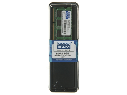 Pamięć RAM GoodRam GR1600S3V64L11/8G DDR3 SO-DIMM 8GB 1600 MHz