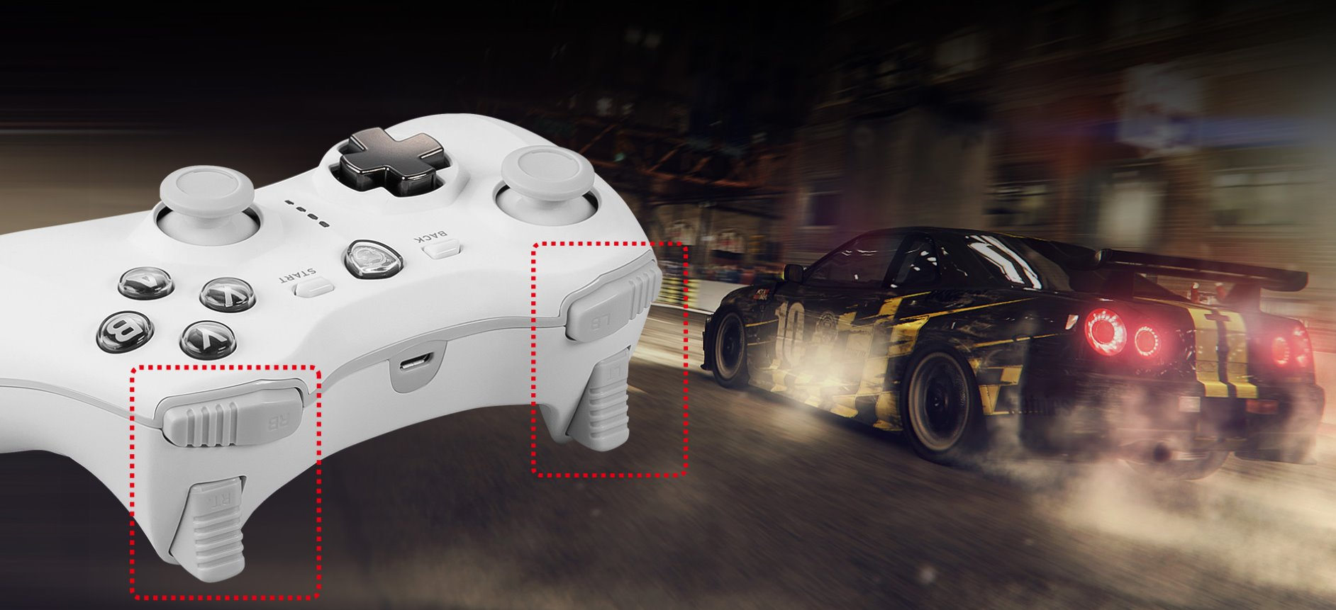 PAD MSI FORCE GC30 V2 WHITE GAMING CONTROLLER3