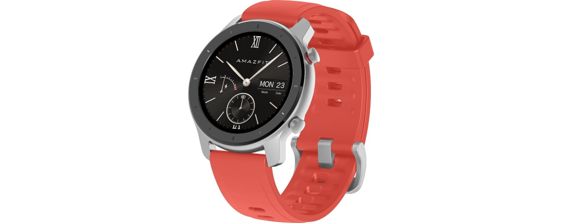 Smartwatch Huami Amazfit GTR-42mm Starry Coral Red2