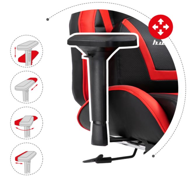 Fotel gamingowy HZ-Force 7.5 Red6