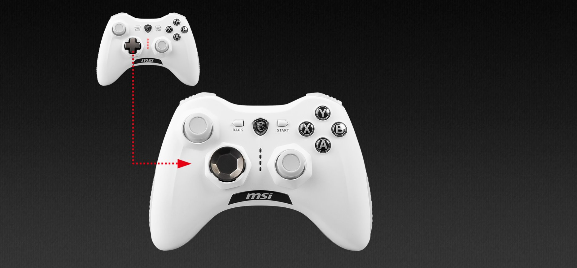 PAD MSI FORCE GC30 V2 WHITE GAMING CONTROLLER4