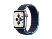 Apple Watch SE GPS + Cellular, 44mm Silver Aluminium Case with Deep Navy Sport Loop - MYEW2WB/A