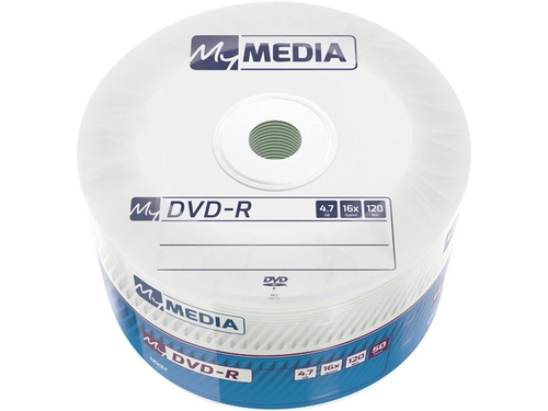 MY MEDIA DVD-R 4.7GB X16 WRAP (50 SPINDLE) - 69200
