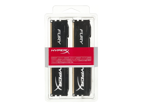 Pamięć RAM Kingston HyperX Fury DDR3 1600 MHz 16GB CL10 (Kit of 2) Czarny - HX316C10FBK2/16